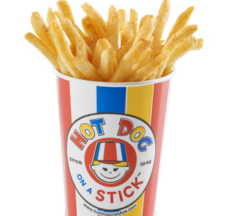 fries in cup